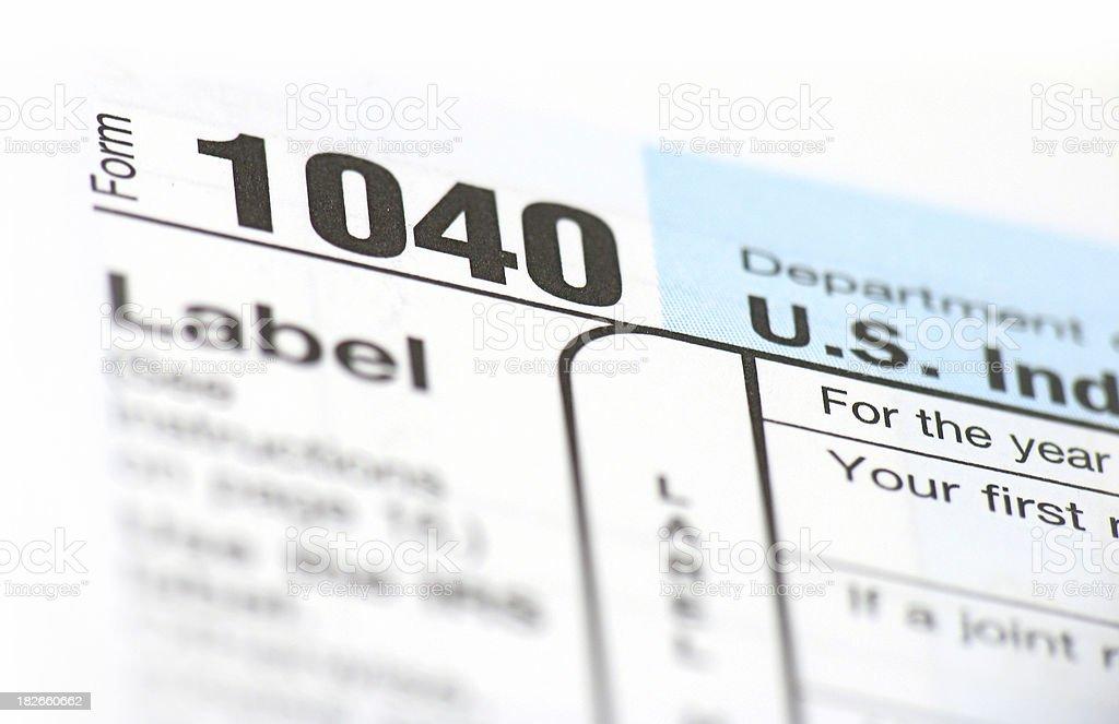 Tax Form 1040 Close Up Stock Photo 182660662 Istock