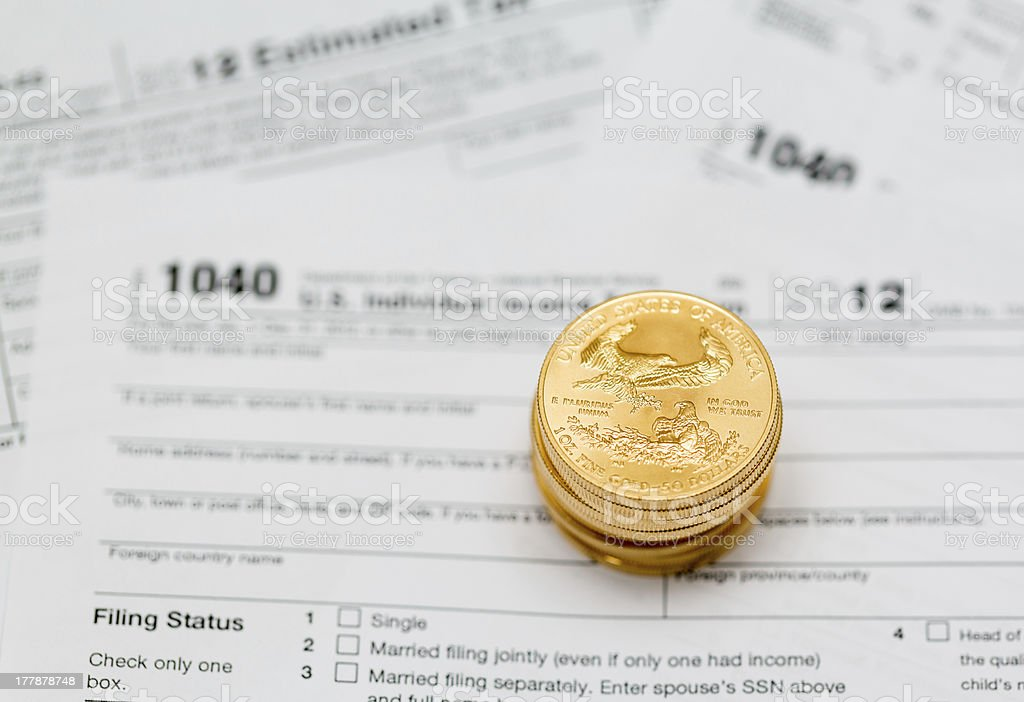 USA tax form 1040 for year 2012 stock photo
