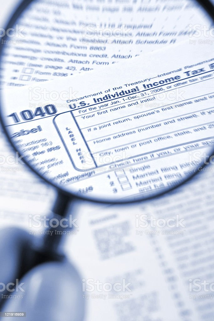 USA tax form - 1040 royalty-free stock photo