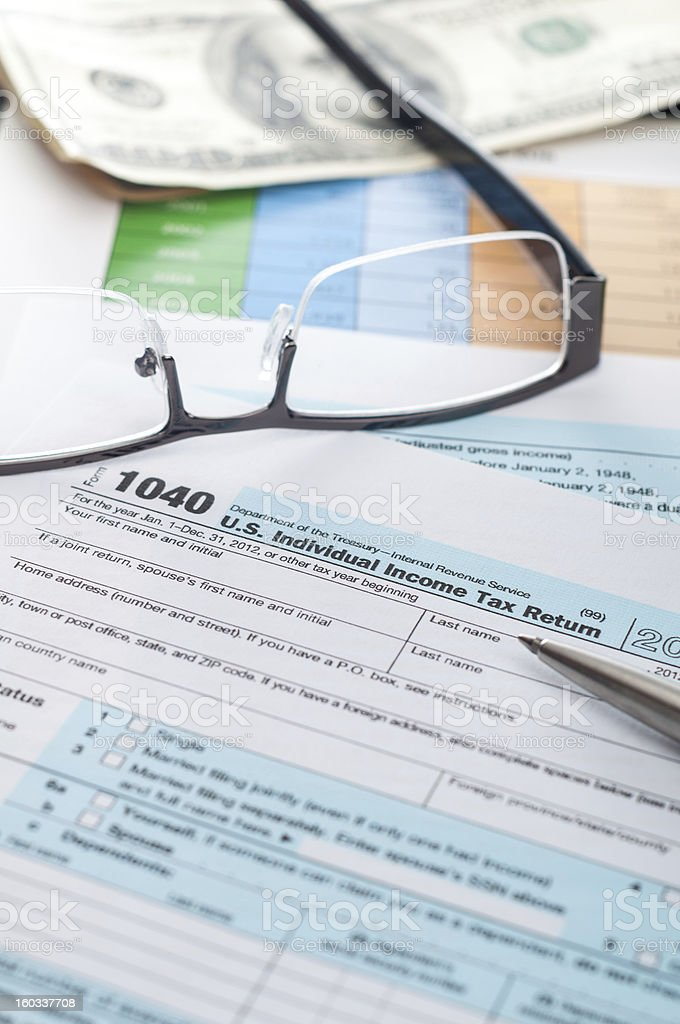 tax form 1040 royalty-free stock photo