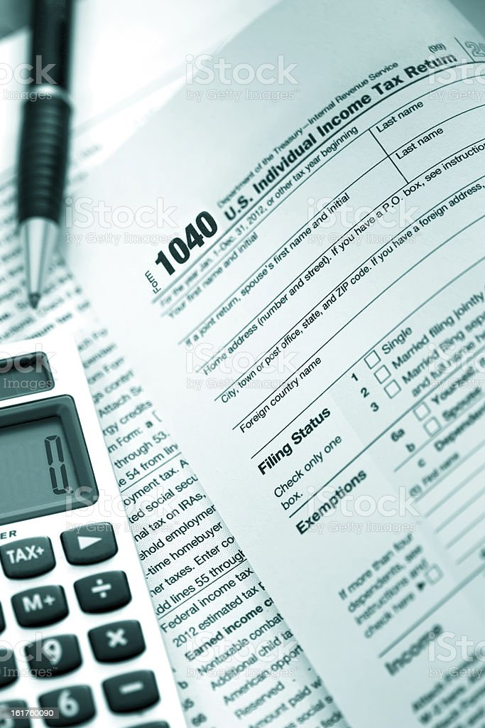 US Tax Form 1040 royalty-free stock photo