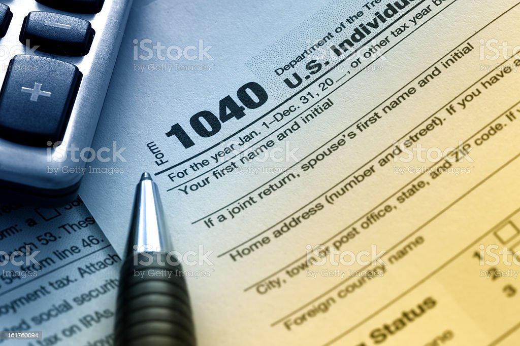 US Tax Form 1040 stock photo