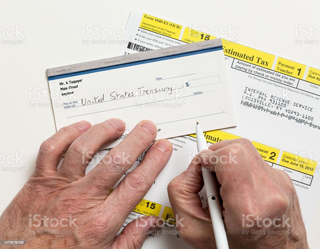 US IRS Tax form 1040-ES stock photo