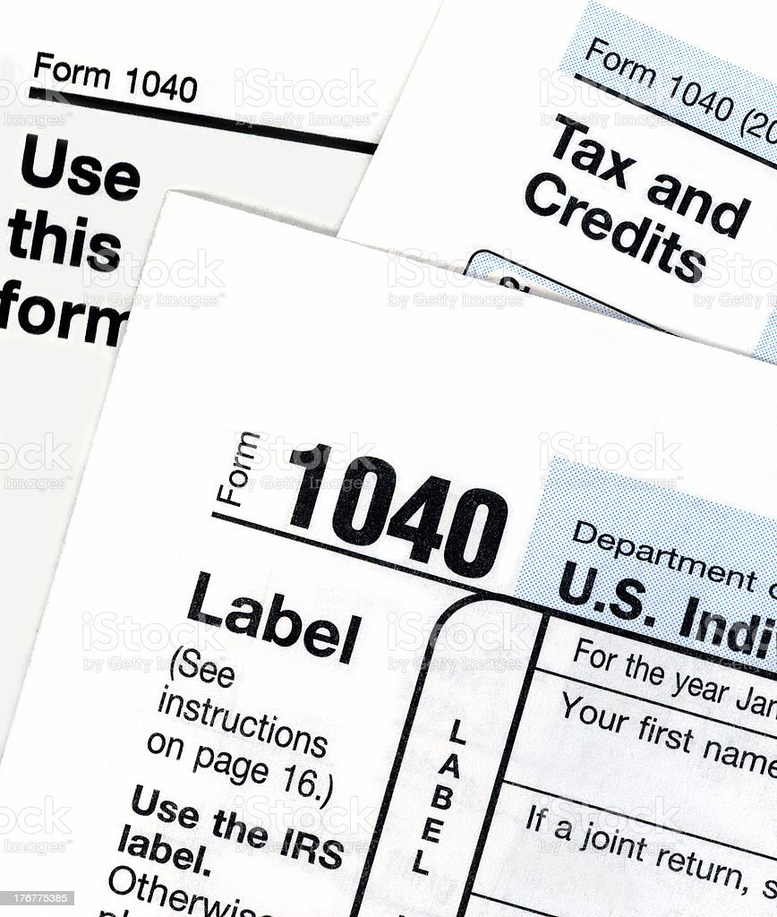 Tax Form Close-up stock photo