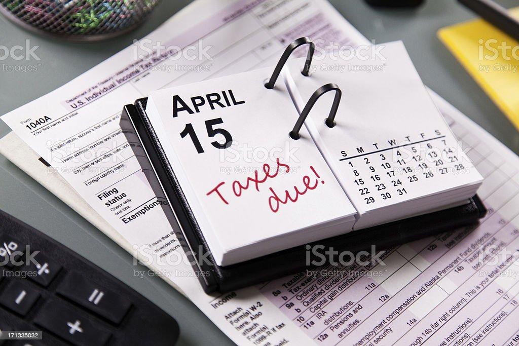 1040A Tax Form Deadline stock photo