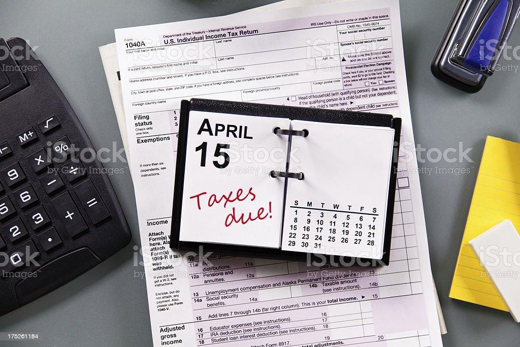 Tax Form Deadline stock photo