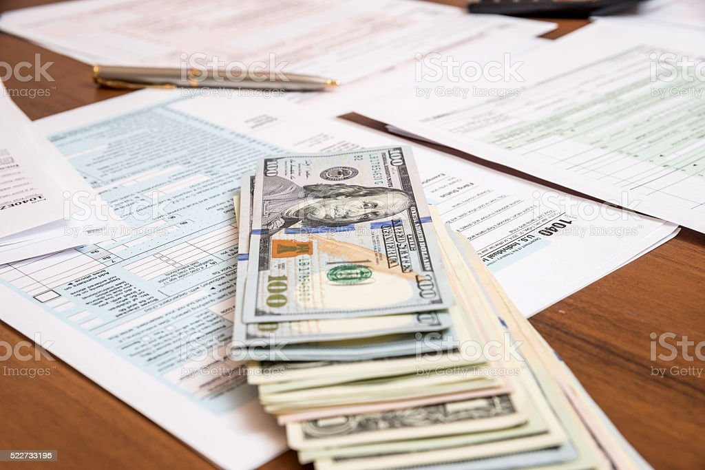 1040 tax form for 2016 year stock photo