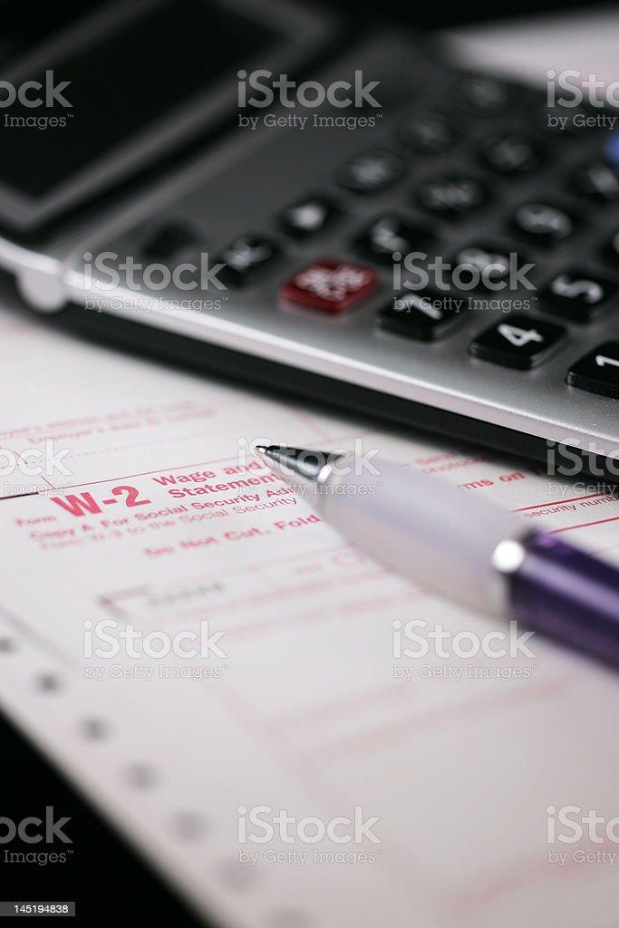 tax form stock photo