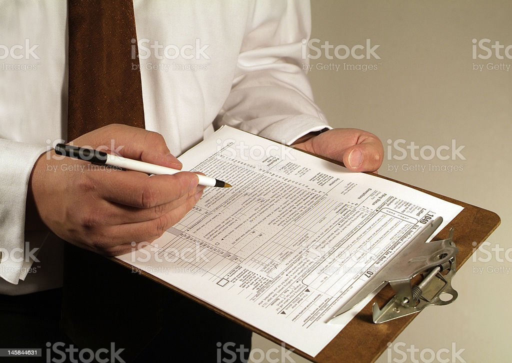 tax form royalty-free stock photo