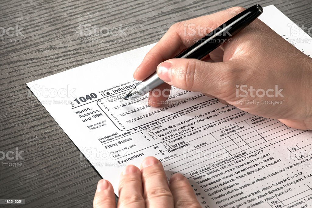 tax form stock photo