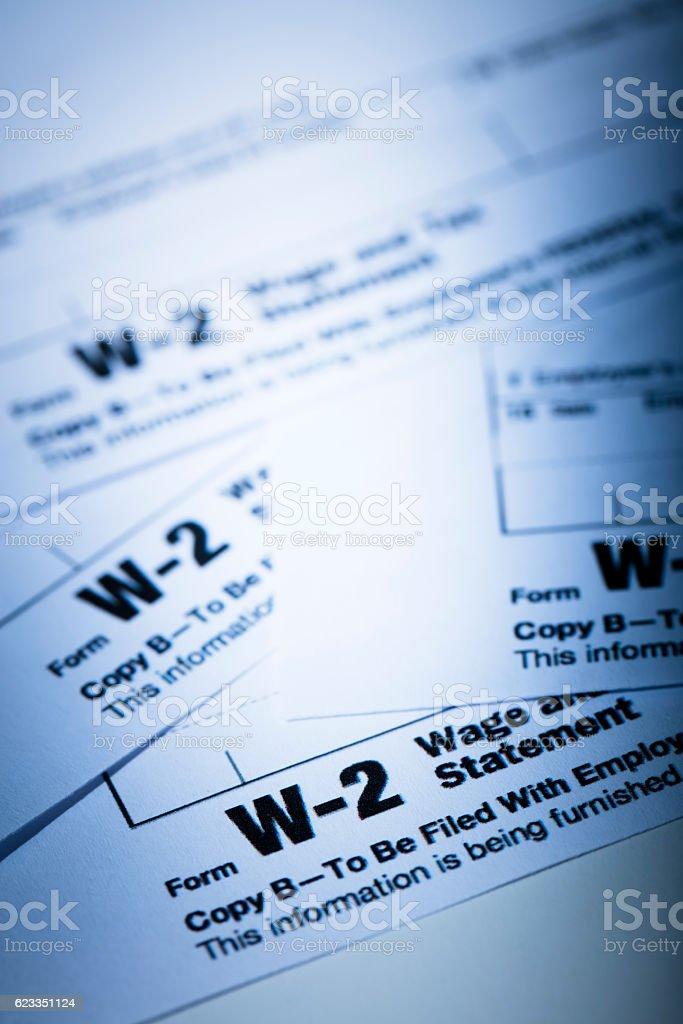 W-2 Tax Form stock photo