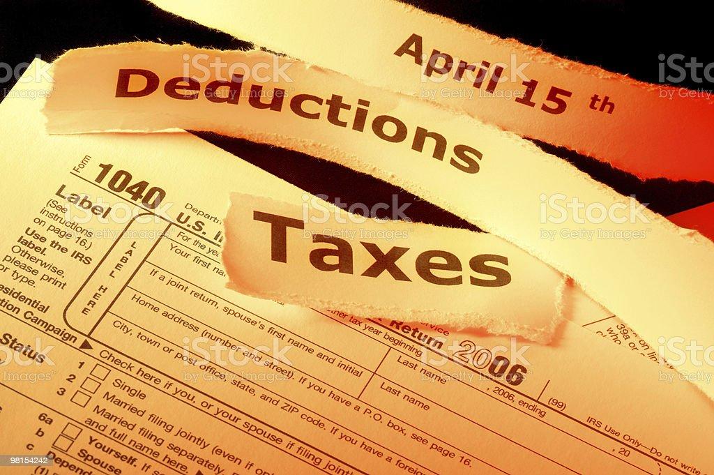 Tax Form Returns stock photo