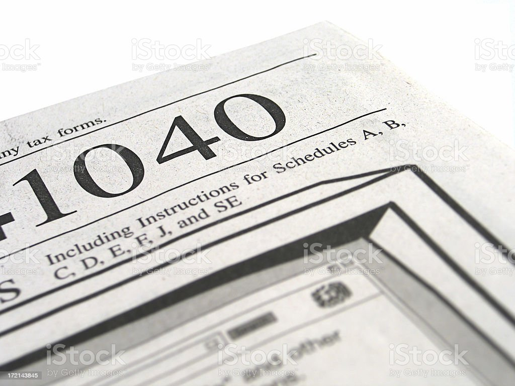 Tax Forms - 1040 Booklet 2 royalty-free stock photo
