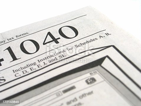 Tax Forms 1040 Booklet 2 Stock Photo 172143845 Istock