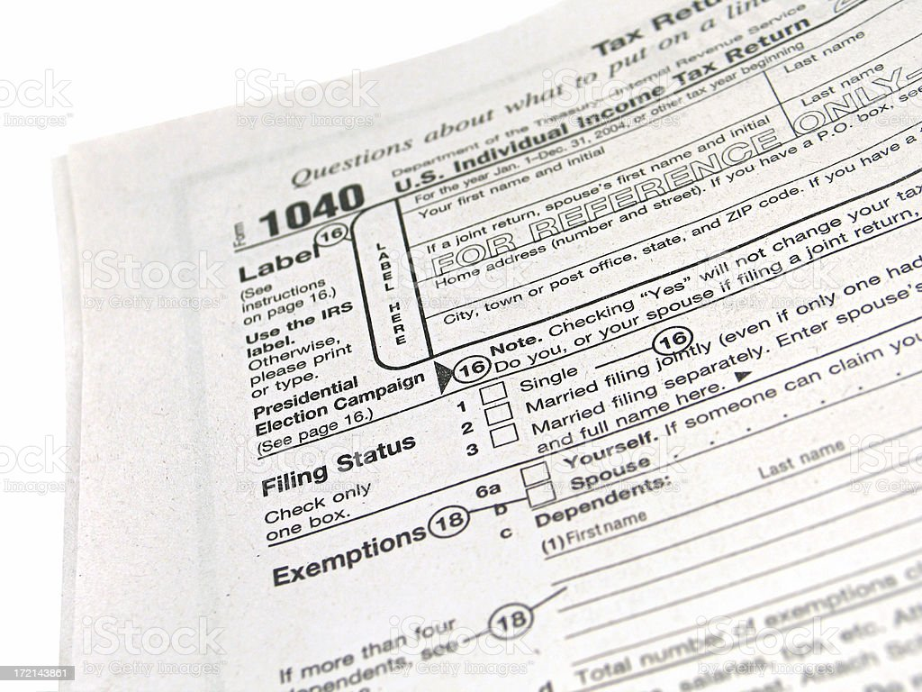 Tax Forms - 1040 Booklet royalty-free stock photo