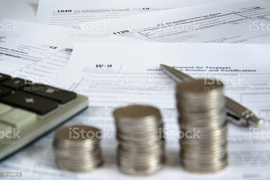 US Tax Forms 2 stock photo