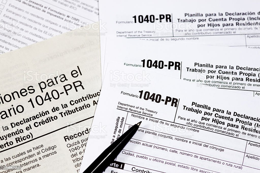Tax Forms for the IRS stock photo