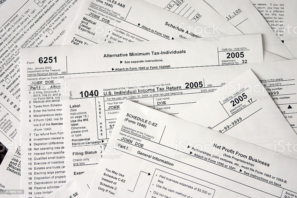 tax forms II royalty-free stock photo