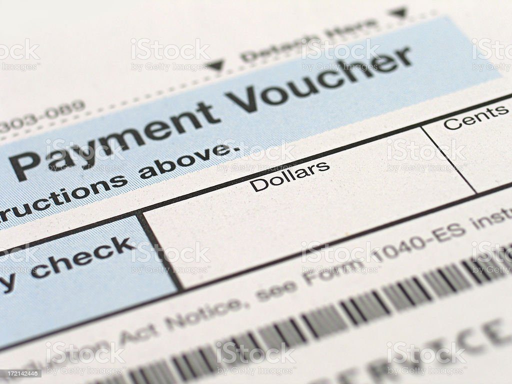 Tax Forms - Payment Voucher stock photo