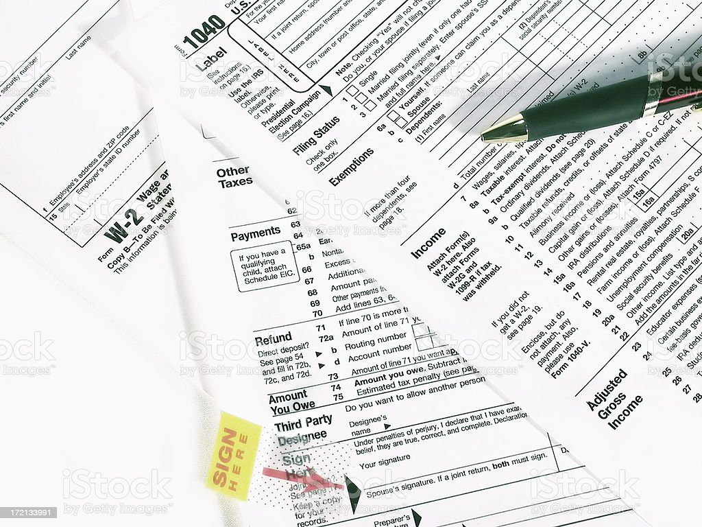 IRS Tax Forms stock photo