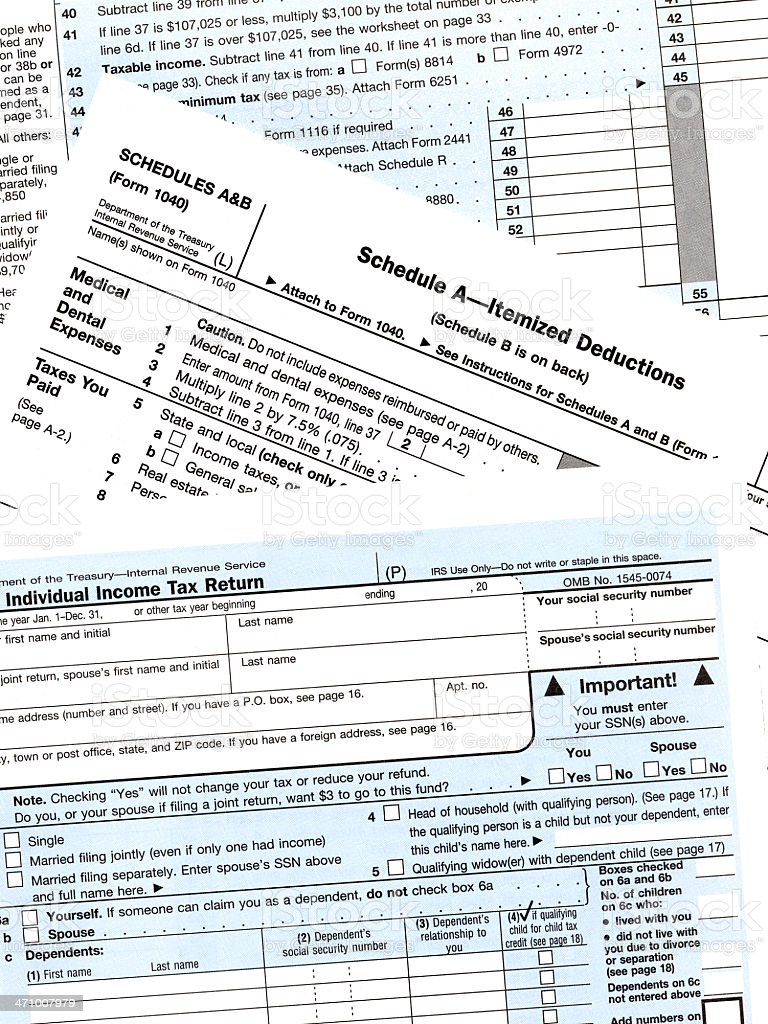 IRS Tax Forms royalty-free stock photo