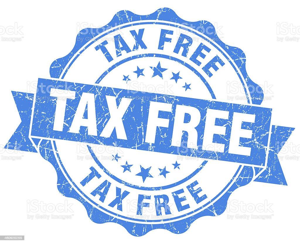 Tax Free Grunge Stamp stock photo