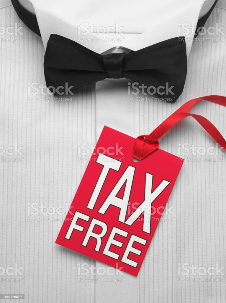 Tax Free Label and Shirt royalty-free stock photo