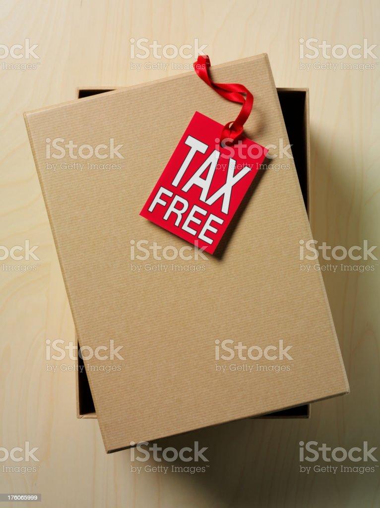 Tax Free label royalty-free stock photo