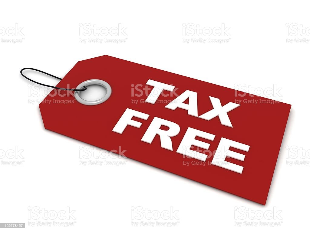 Tax Free royalty-free stock photo