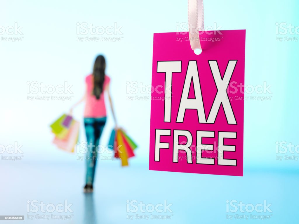 Tax Free Shopping Label royalty-free stock photo