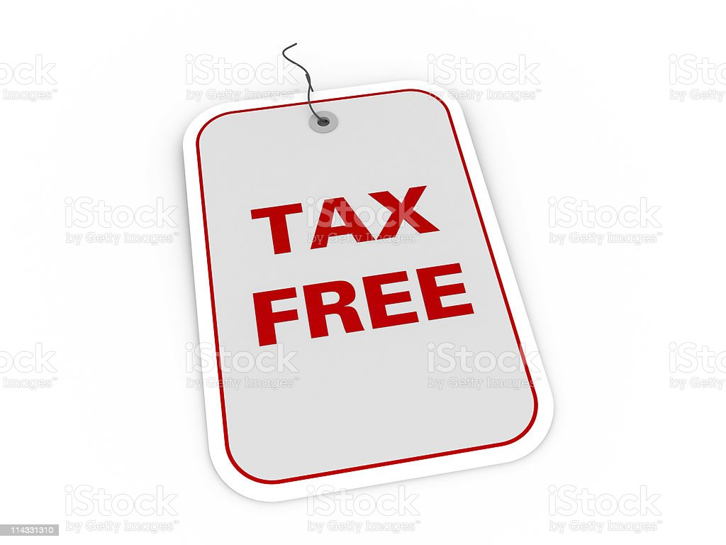 Tax Free Shopping Tag royalty-free stock photo