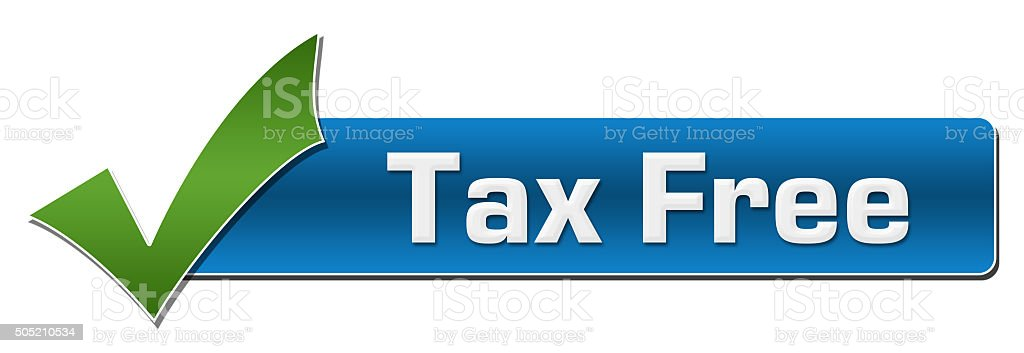 Tax Free With Green Tickmark stock photo