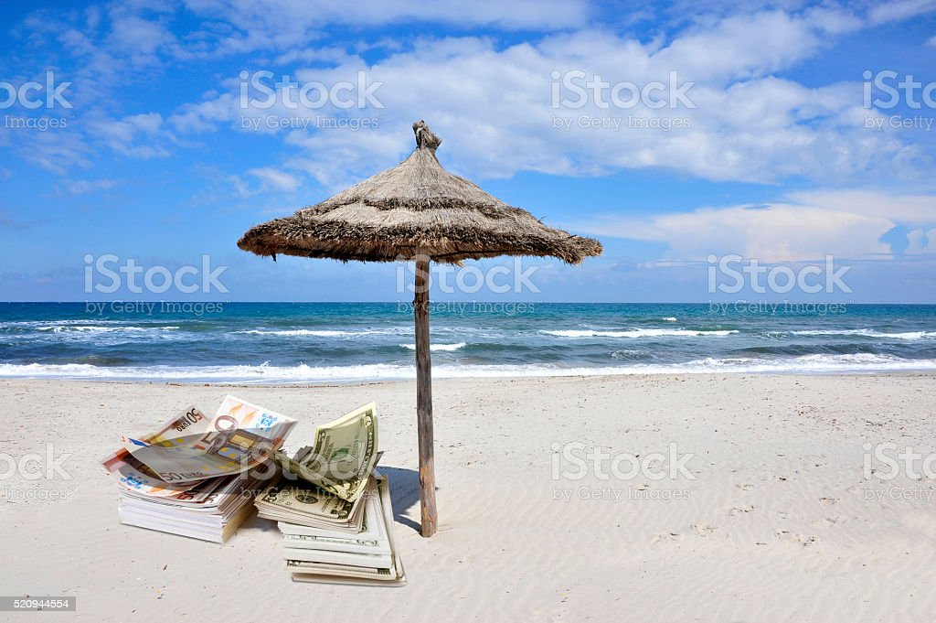 Tax Haven. The Panama Papers. stock photo