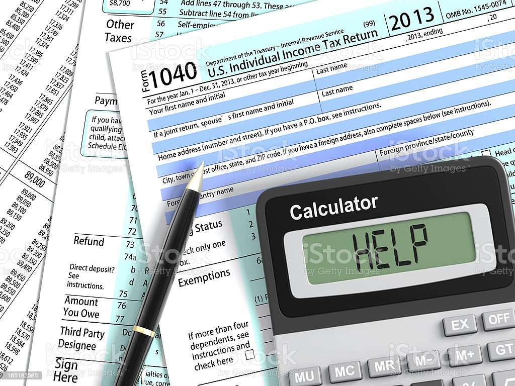 Tax Help Concepts royalty-free stock photo