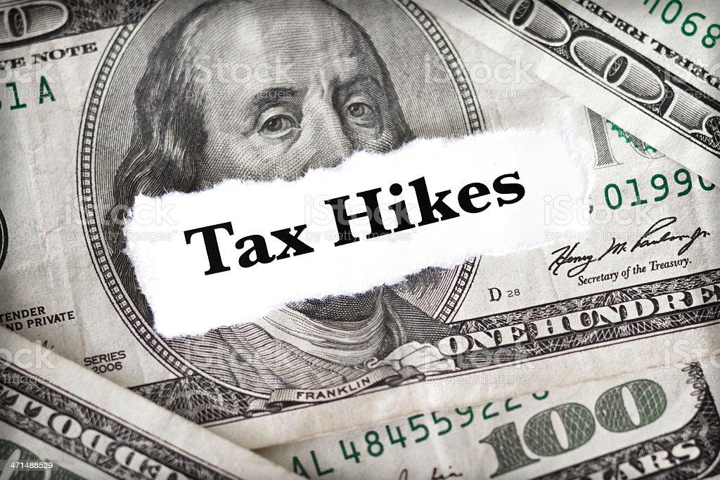 Tax Hikes royalty-free stock photo
