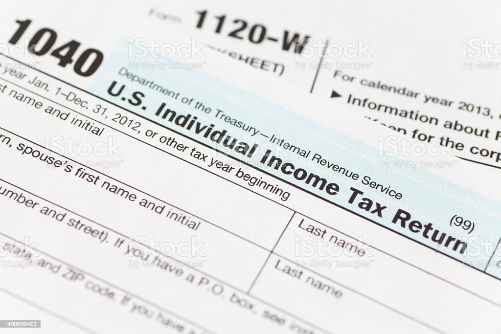 Tax income form stock photo