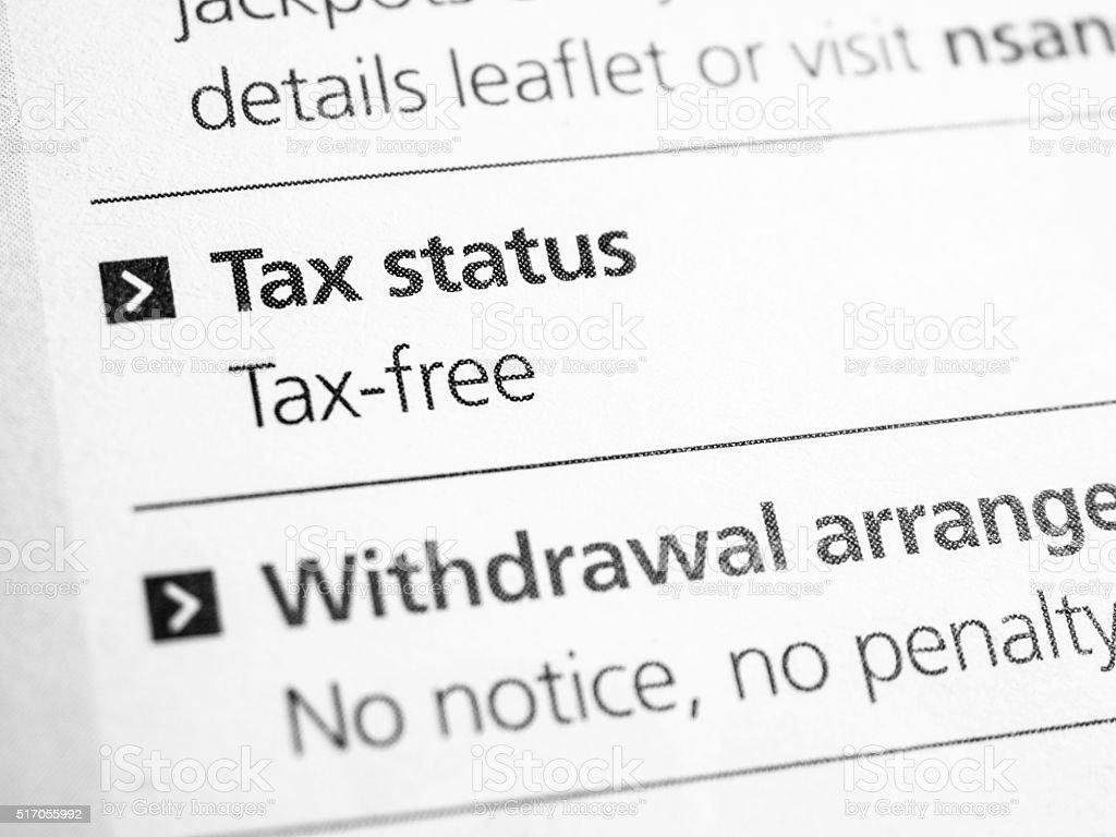 tax info stock photo