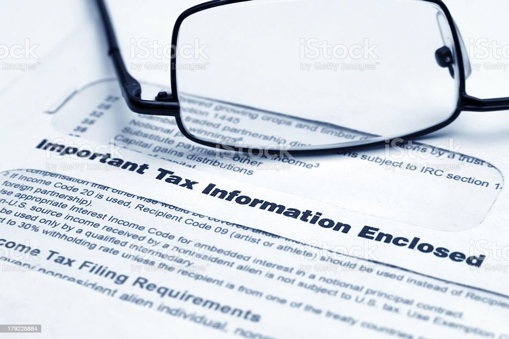 Tax information letter royalty-free stock photo
