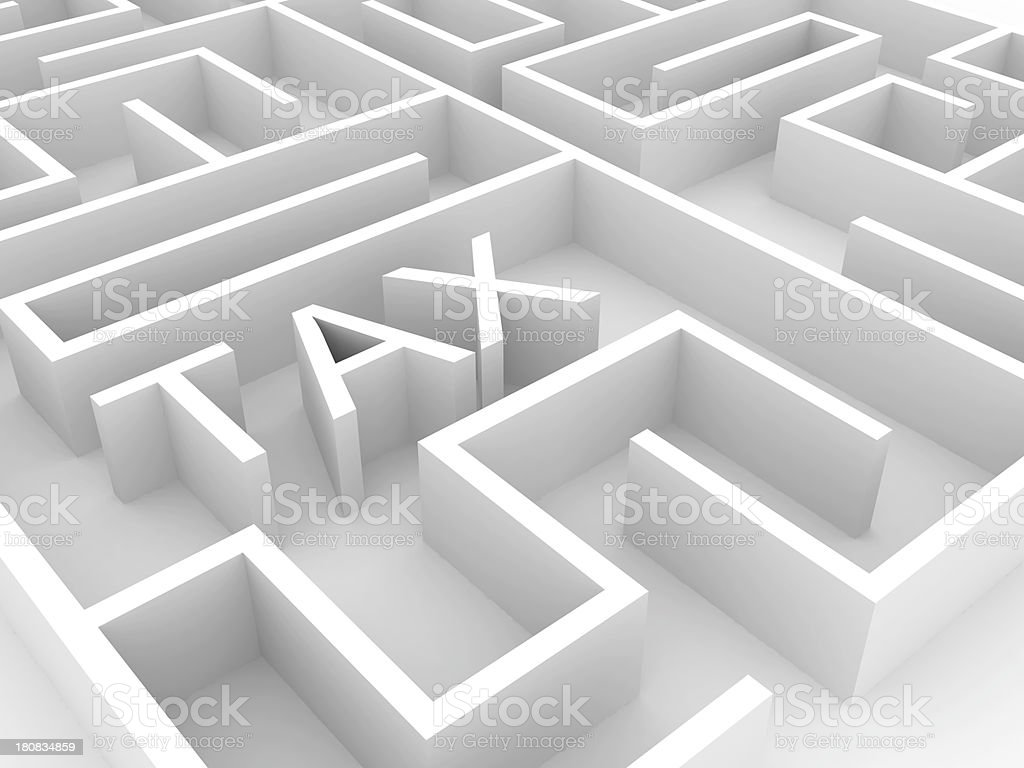 Tax Labyrinth stock photo