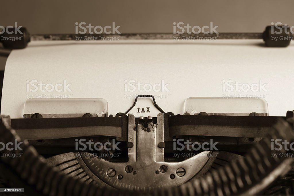 Tax letter stock photo