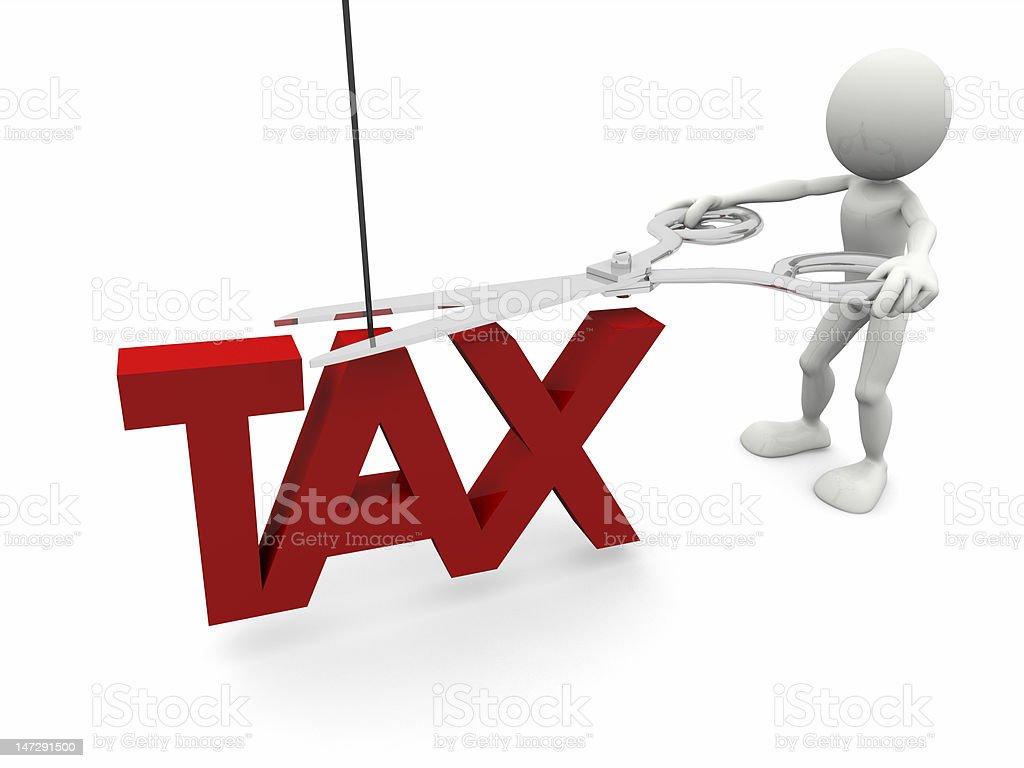 Reducción de impuestos foto de stock libre de derechos