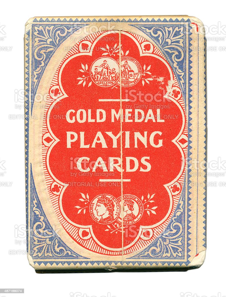 Charles Goodall tax wrapper on British playing cards 1930 stock photo