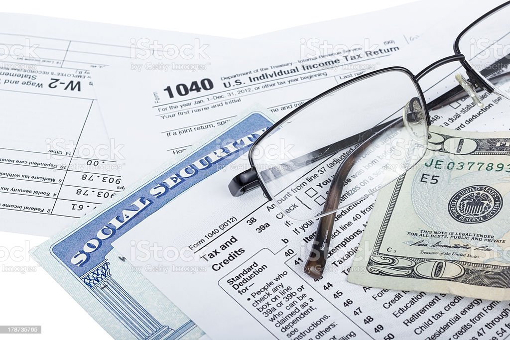 Tax preparation stock photo