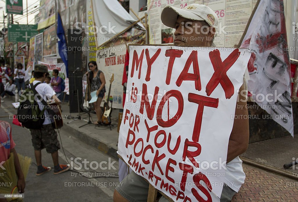 Tax protest stock photo