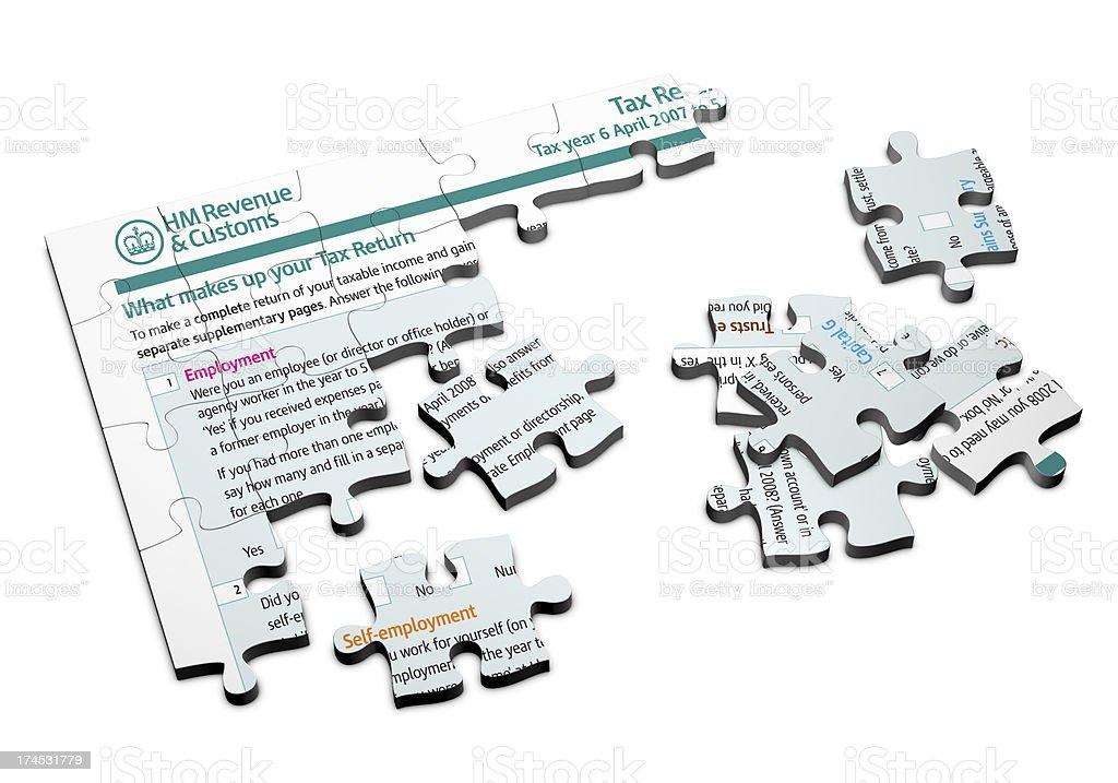 UK Tax Puzzle 2 stock photo