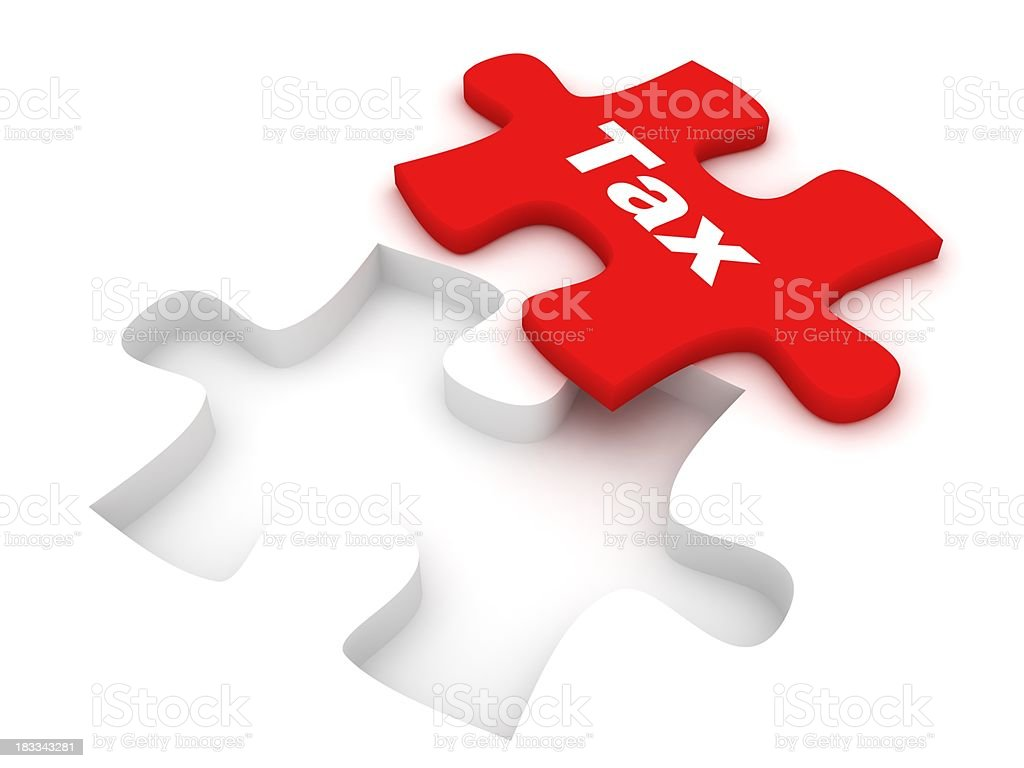 Tax Puzzle stock photo