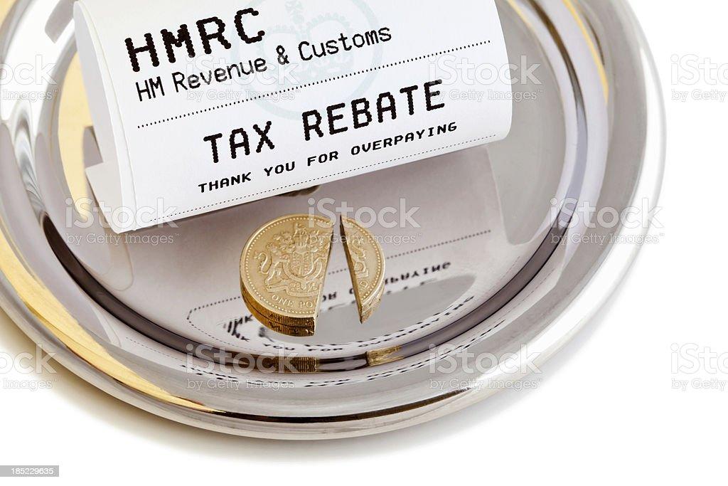 Tax Rebate royalty-free stock photo