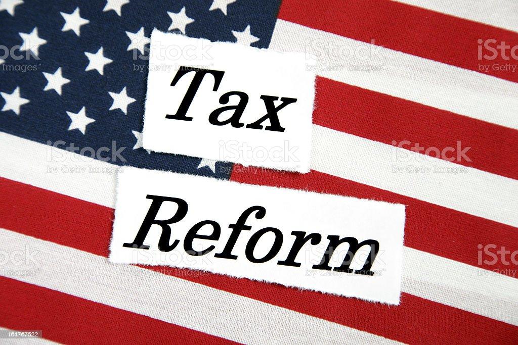 Tax Reform stock photo
