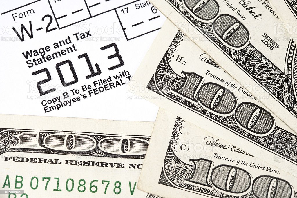 Tax Refund 2013 royalty-free stock photo