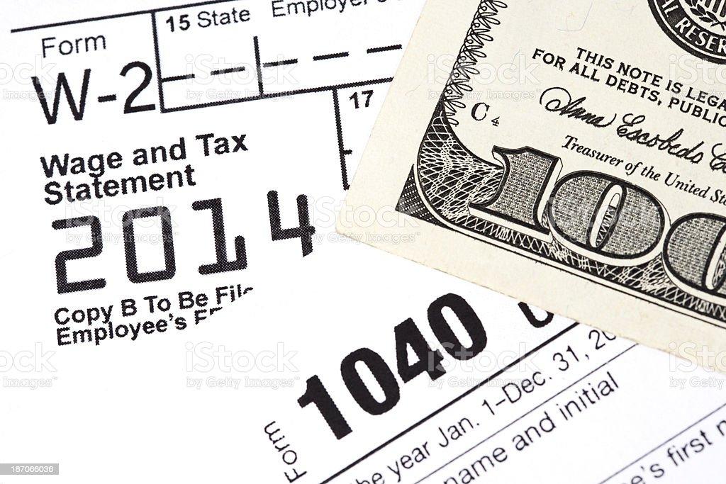 Tax Refund 2014 stock photo